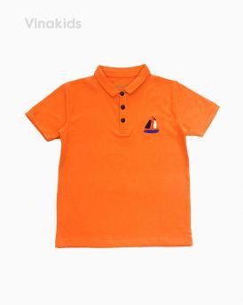 Áo Thun bé trai thêu thuyền màu cam (7-12 tuổi)