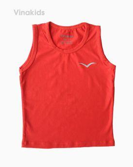 Áo ba lỗ bé trai thêu logo Vinakids màu đỏ (6-10 tuổi)
