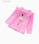 Áo bé gái bale màu hồng phấn