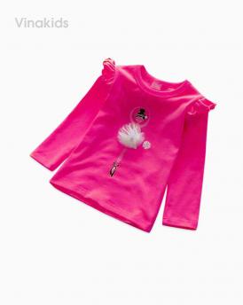 Áo bé gái bale màu hồng sen