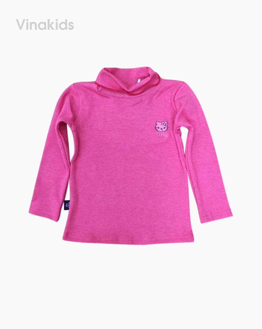 Áo bé gái cổ 5 phân màu hồng
