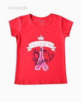 Áo bé gái có tay fashion màu hồng đào ( 6-10 tuổi)
