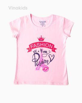 Áo bé gái có tay fashion màu hồng phấn ( 6-10 tuổi)