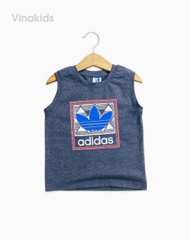 Áo bé trai Adidas màu ghi size nhí