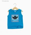 Áo bé trai Adidas màu xanh dương size đại