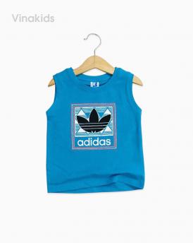 Áo bé trai Adidas màu xanh dương size nhí
