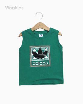 Áo bé trai Adidas màu xanh lá size đại