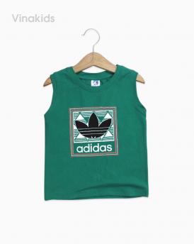 Áo bé trai Adidas màu xanh lá size nhí