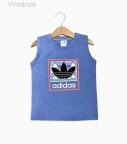 Áo bé trai Adidas màu xanh lam size đại
