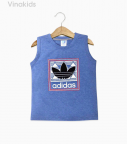 Áo bé trai Adidas màu xanh lam size nhí