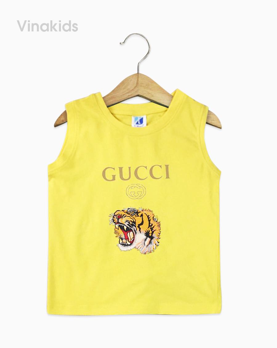 Áo bé trai Gucci màu vàng đại