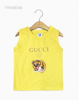 Áo bé trai Gucci màu vàng nhí