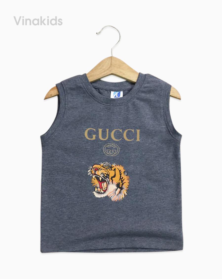 Áo bé trai Gucci màu xám nhí