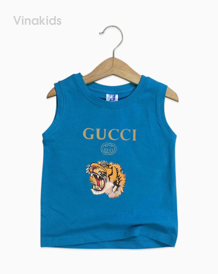 Áo bé trai Gucci màu xanh dương nhí