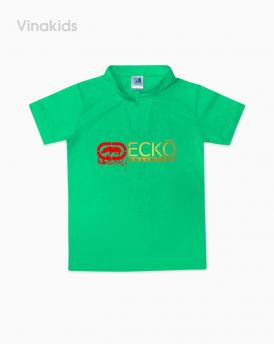 Áo bé trai cổ trụ ECKO màu xanh lá size nhí