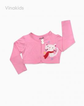 Áo choàng lửng bé gái màu hồng nhạt