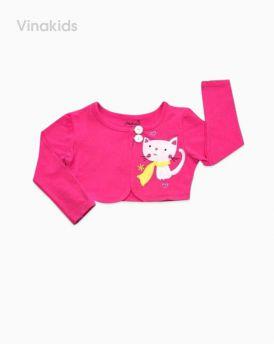 Áo choàng lửng bé gái màu hồng sen