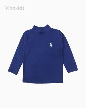 Áo cổ ba phân cotton len thêu ngựa màu tím than (1-6 tuổi)