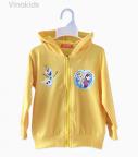 Áo khoác bé gái da cá Elsa & Anna màu vàng size đại