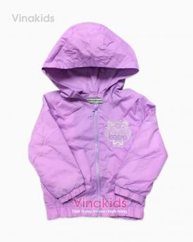 Áo khoác bé gái kenzo màu tím