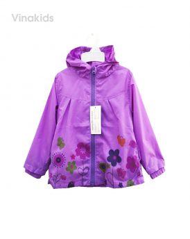 Áo khoác gió bé gái hình hoa màu tím (2-7 tuổi)