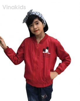 Áo khoác gió bé gái hình mickey màu đỏ (8-12 tuổi)