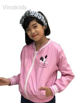 Áo khoác gió bé gái hình mickey màu hồng phấn (8-12 tuổi)