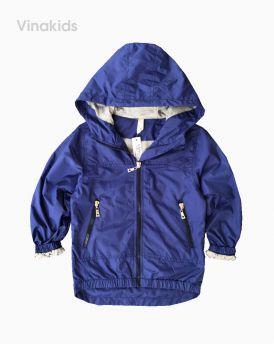 Áo khoác gió bé trai xuất xịn màu tím than (4-12 tuổi)