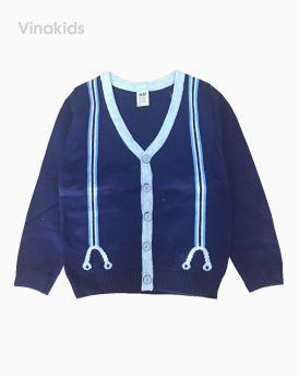 Áo khoác len bé trai kiểu công tử màu tím than (1-6 tuổi)