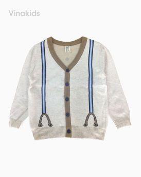Áo khoác len bé trai kiểu công tử màu trắng sữa (1-6 tuổi)