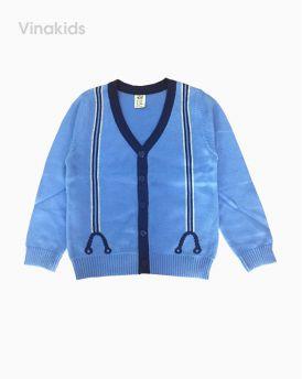 Áo khoác len bé trai kiểu công tử màu xanh (1-6 tuổi)