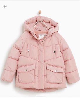 Áo khoác phao 3 lớp zaza xuất xịn màu hồng (5-14 tuổi)