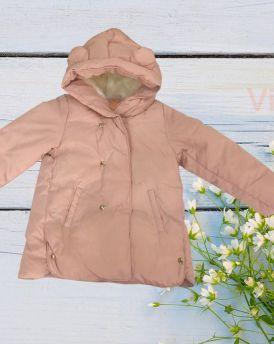 Áo khoác phao bé gái lót lông đại hàn màu hồng (2-4 tuổi)