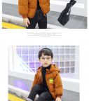 Áo khoác phao bé trai 3 lớp mặt cười (1-6 tuổi)