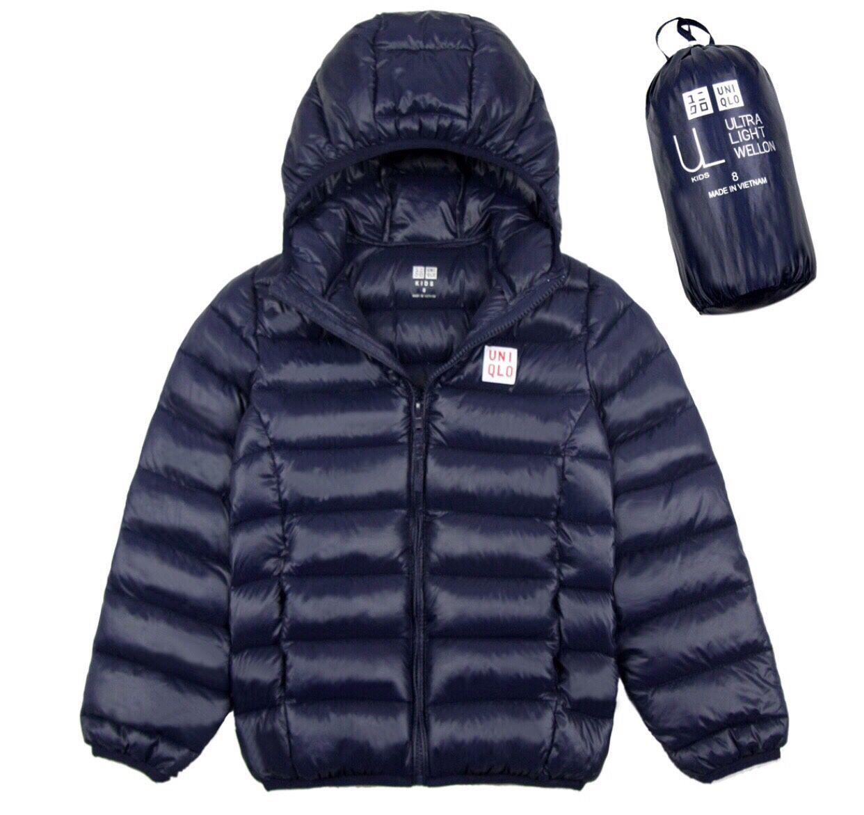 Áo khoác phao bé trai bỏ túi màu đen (10-16 Tuổi)