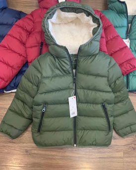 Áo khoác phao bé trai  màu xanh rêu  (25kg-55kg)