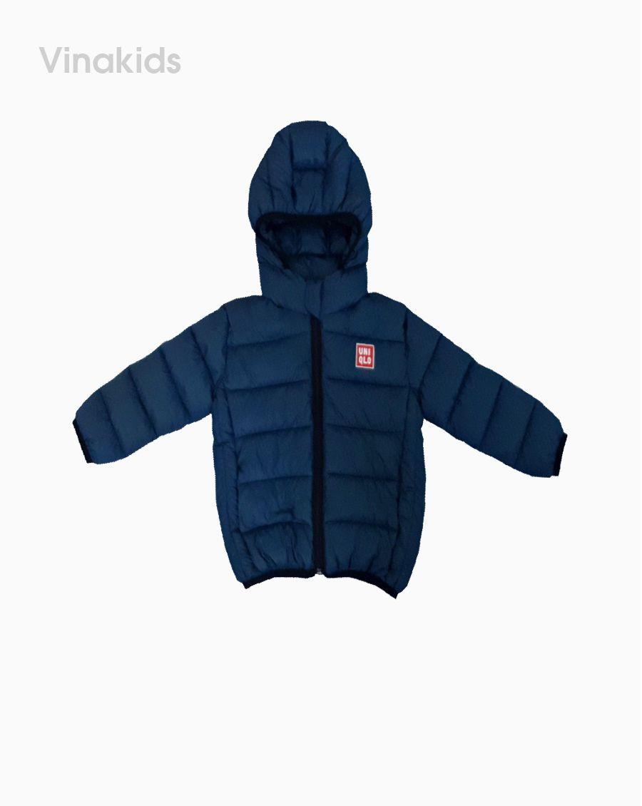 Áo khoác phao siêu nhẹ uni màu xanh (1-6 tuổi)
