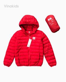 Áo khoác phao siêu nhiệu uniqlo màu đỏ (8-15 tuổi)