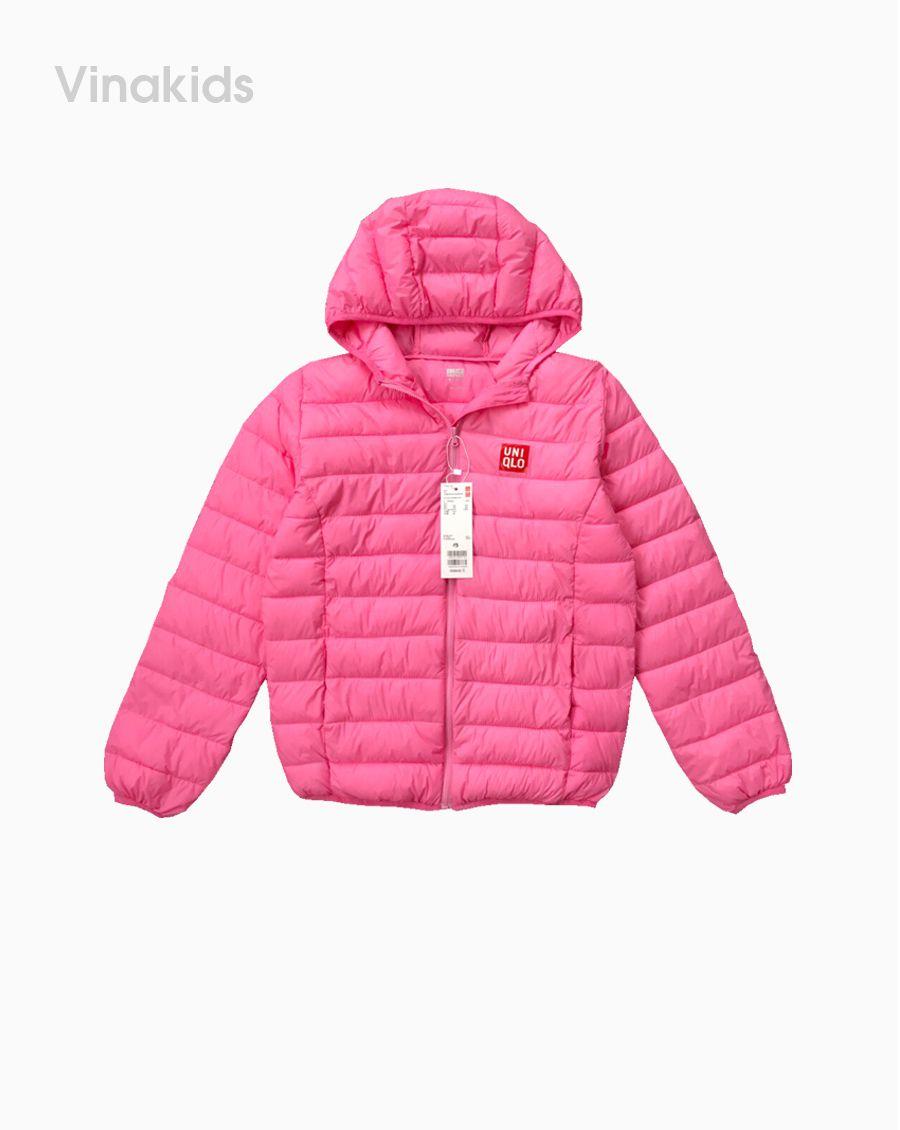 Áo khoác phao siêu nhiệu uniqlo màu hồng phấn (8-15 tuổi)
