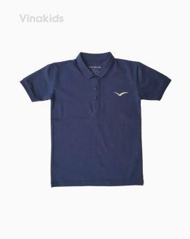 Áo kiểu dáng polo bé trai thêu logo Vinakids màu tím than (1-7 tuổi)