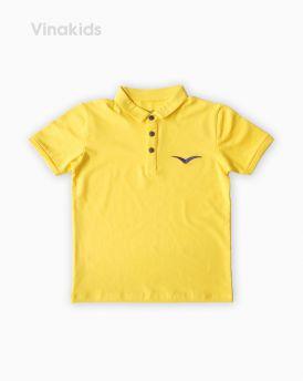 Áo kiểu dáng polo bé trai thêu logo Vinakids màu vàng size 8-12 tuổi