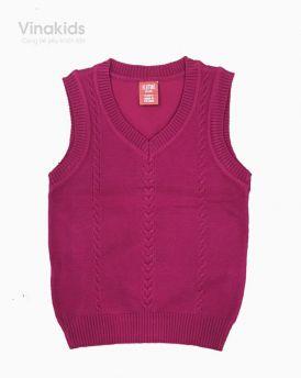 Áo len bé trai ghile trơn màu đỏ