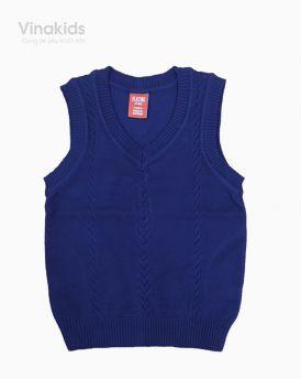 Áo len bé trai ghile trơn màu tím than