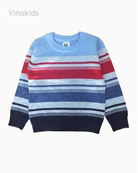 Áo len bé trai kẻ cổ xanh đỏ (1-6 tuổi)
