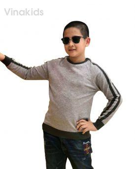 Áo len bé trai thể thao màu ghi