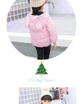 Áo phao bé gái 3 lớp hình mặt cười màu hồng (1-6 tuổi)