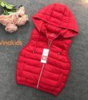 Áo phao gile bé gái siêu nhẹ màu đỏ cho bé từ (1- 7 tuổi)