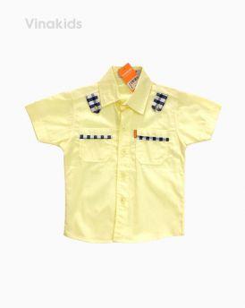 Áo sơ mi bé trai đắp vải kẻ màu vàng (1-5 Tuổi)
