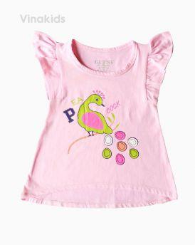 Áo thun bé gái cánh tiên hình chim Cook màu hồng (1-6 tuổi)