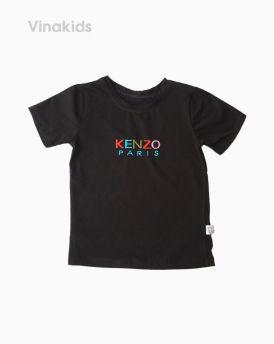 Áo thun bé gái ngắn tay Kenzo màu đen (1-6 tuổi)